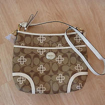 Coach Purse Hobo Peyton Signature Clover Nwt Crossbody - Beautiful Photo