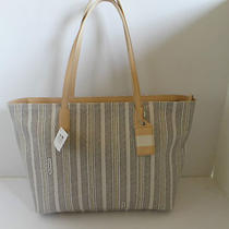 Coach Purse Legacy Weekend Ticking Stripe Md Shoulder Tote White/ Black  23108 Photo
