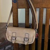 Coach Purse/phone/shoulder Bag Small Tan Leather Adorable  Photo