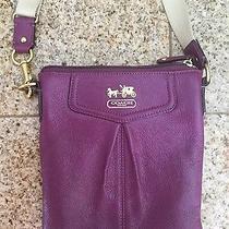 Coach Purse Purple Leather Photo