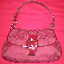 Coach Purse Red Shoulder Photo