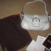 Coach Purse Satchel Shoulder Handbag White Photo