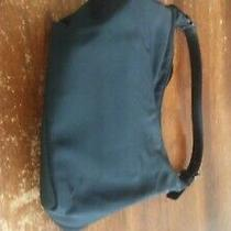 Coach Purse Small Black in Excellent Condition Twill Farbic Trimmed in Leather Photo