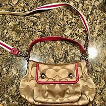 Coach Purse Tan and Pink Photo