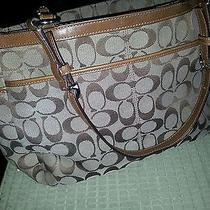 Coach Purse Tan Tote Beautiful  Photo