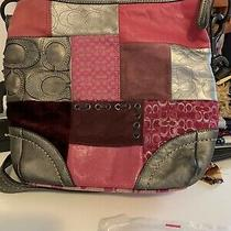 Coach Purse With Patchwork Pattern Photo
