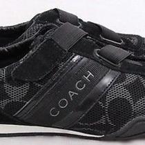 Coach Q1036 Jenney Velcro Driving Fashion Signature Sneaker Women's U.s. 7m Photo