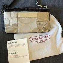 Coach - Quilted Monogram Wristlet Photo