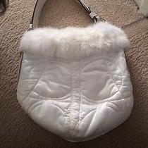 Coach Rabbit Fur White Bag Photo