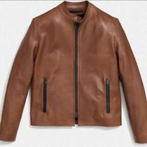 Coach Racer Saddle Brown Leather Jacket (Xs) Photo
