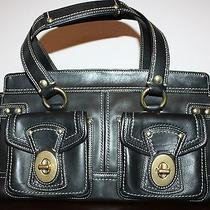 Coach Rare Authentic 598 Legacy Large Black Leather Turnlock Tote Bag Purse Euc Photo