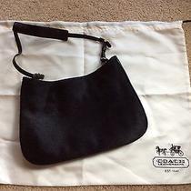 Coach Rare Horse Hair and Leather Black Shoulder Bag Purse  Photo