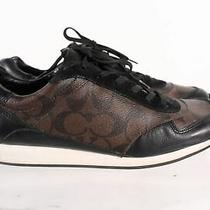 Coach Rebeca Brown Leather Women's Signature Cap Toe Lace Up Sneakers Sz 11 Photo