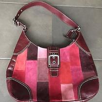 Coach Red and Pink Handbag Photo