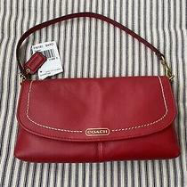 Coach Red Campbell Leather Large Wristlet Wallet Clutch Small Purse F50183  Nwt Photo