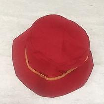 Coach Red Crusher Bucket Hat Leather Size M/l  Euc Photo