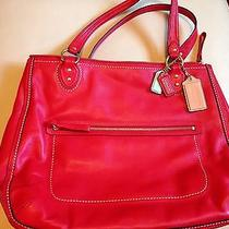 Coach Red Handbag  Bag Photo