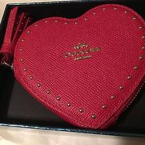 Coach Red Heart Coin Purse New in the Box Photo