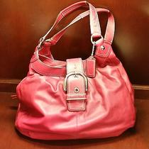 Coach - Red Leather Handbag Photo