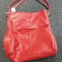 Coach Red Leather Handbag Photo