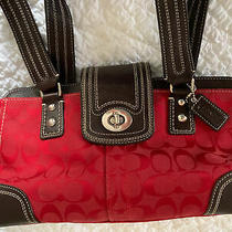 Coach Red Leather Handbag Photo