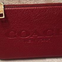 Coach Red Leather Luggage Tag Wallet Photo
