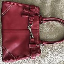 Coach Red Leather Satchel Handbag Photo