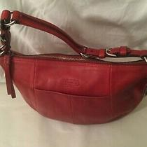 Coach Red Leather Soho Hobo Bag Purse 12683  Photo