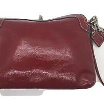 Coach Red Leather Wristlet Photo