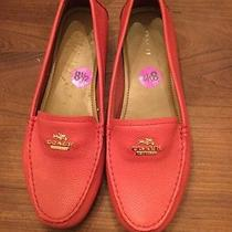 Coach Red loafers.size 8 1/2 Photo