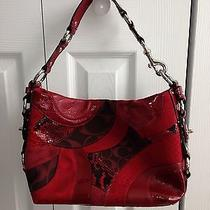 Coach Red Patchwork Handbag. Photo