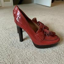 Coach Red Patent Leather Heels With Tassel (Sz 8) Perfect for the Holidays Photo