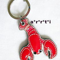 Coach Red Patent Leather Lobster Key Ring Fob Chain New Without Tag Photo