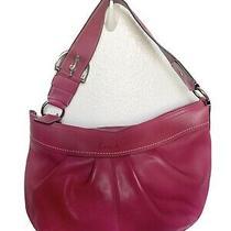Coach Red Pink Leather Beautiful Cute Pattern  Handbag Purse Photo