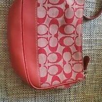 Coach Red Wrislet Purse Bag Photo