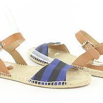Coach Reena Lacquer Blue Canvas Espadrille Sandals Womens Size 5.5m New Photo