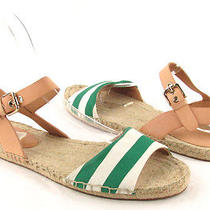 Coach Reena Lacquer Green Espadrille Sandals Womens Size 9m Photo