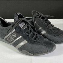 Coach Remonna Signature Sneaker Shoes Women's Sz 7 Black & Silver Photo