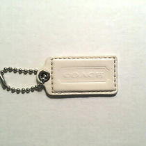 Coach Replacement Hangtag Hang Tag Fob Key Ring Off White Ecru Egg Shell Photo