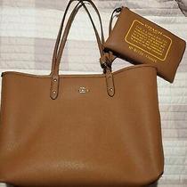Coach Reversable Tote Bag Cognac and Yellow Euc Photo