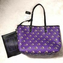 Coach Reversible City Tote Bramble Purple Floral Print Purse Set Nwt 425 F55866 Photo