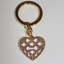 Coach Rhinestone Heart Key Fob Chain Photo