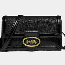 Coach Riley Convertible Belt Bag Leather Crossbody Clutch Nwt Black 79668 Photo