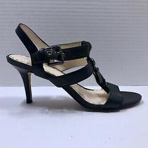 Coach Robin Black Leather Strappy Size 9 B Heels Sandals Photo