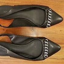 Coach - Rodney Chain Slingback Black Leather Flats Size 6 Photo