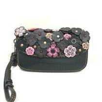Coach Rose Applique Clutch Wallet 58181 003 Photo