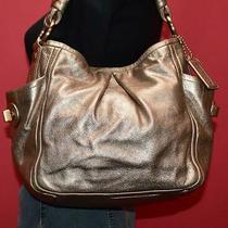 Coach Rose Gold Leather 'Parker' Hobo Tote Shoulder Shopper Purse Bag F13412 Photo