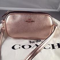 Coach Rose Gold Metallic Cross Body Mini Bag 53187 -Nwt Photo