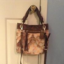 Coach Rose/gold Parker Optic Art Purse Photo