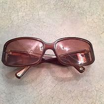 Coach Rowan Amber Horn  Brown Women's Sunglasses for Prescriptions Great Cond Photo